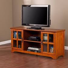 Mission Style TV Stand Cabinet Wood LED Flat Screen Media Storage ...