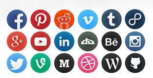 round social media icon. Simple Round To Round Social Media Icon S