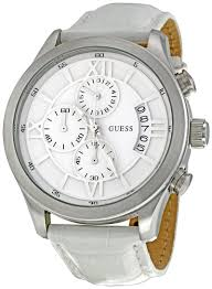 guess w12101g1 sport white dial stainless steel chrono men s watch guess w12101g1 sport white dial stainless steel chrono men s watch
