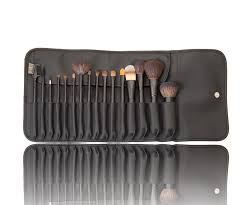 china makeup brush set and natural hair