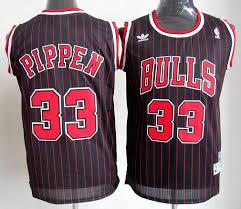 Make Own Merchandise Unequaled Kids Chicago Bulls 33 Scottie Pippen Black Red Strip