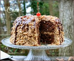 Decorated German Chocolate Cake Wildflours Cottage Kitchen