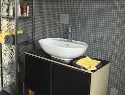 bathroom mosaic tile behind sink