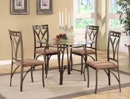 Ideas Glamour Dining Room Decor Using Glass Dinette Sets Ideas