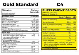Optimum Nutrition Comparison Chart Gold Standard Pre Workout Vs C4 The Sport Review
