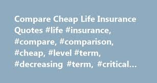 Level Term Life Insurance Quotes Mesmerizing Compare Cheap Life Insurance Quotes Life Insurance Compare