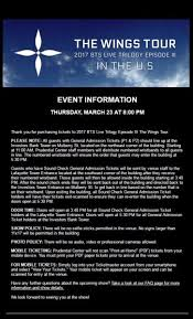 Bts Wings Tour Seating Chart Newark Powerhouse Live Tumblr