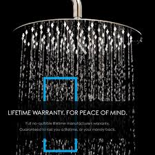 LumoSpa SH01 <b>Rainfall</b> Shower Head, 8 Inch, <b>Chrome</b> - - Amazon ...