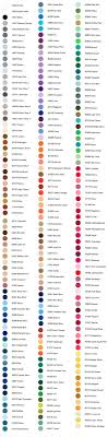 Glide Thread Color Chart