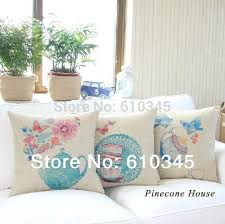 Small Picture 45x45cm Teapot And Teacup Home Decor Cushion Linen Cotton Pillow