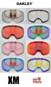 Oakley Snow Goggle Lens Chart Oakley Brand Flight Deck Xm Goggle Replacement Lens Choose Color Mirror Prizm