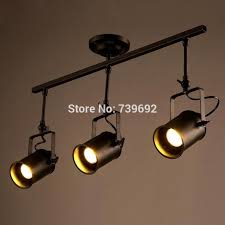 2016 new arrival american vintage track lights modern brief creative 3 heads track led ceiling