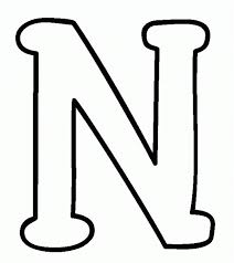 Letter N Coloring Sheets : Free Alphabet Coloring Pages Letter N ...