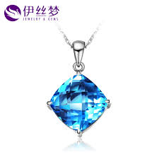 get ations lois dreams original natural swiss blue topaz pendant necklace pendant k gold prop square genuine multicolored