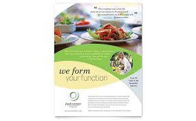 Flyer Design Food Food Catering Flyer Template Design