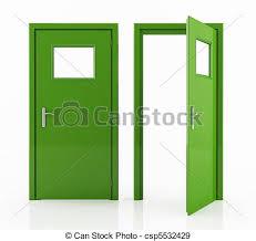 open and closed door clipart. Green Door - Csp5532429 Open And Closed Clipart G