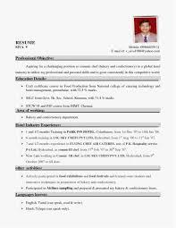 Cook Resume Sample Pdf Professional Template Resume Sample For Hotel
