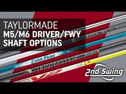 Taylormade Custom Shaft Chart Taylormade M5 M6 Driver And Fairway Shaft Options Youtube