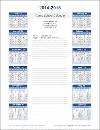 How To Make A School Calendar Yearly Calendar Template For 2019 And Beyond