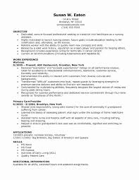 Staff Nurse Resume Inspirational Nursing Resume Template Free