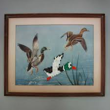 recycled book and vine print 8bit art duck hunt by dpad