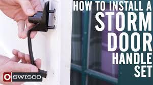 Decorating fixing screen door images : How to Install a Storm Door Handle Set [1080p] - YouTube