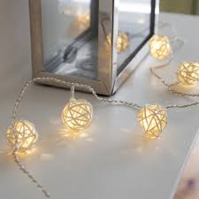 ball fairy lights. 16 warm white led rattan ball wicker fairy lights l