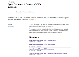 Advent Resource 3 Odf Guidance By Uk Cabinet Office 1 The