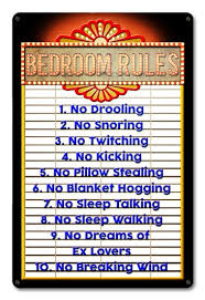 bedroom rules. bedroom rules o