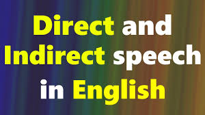 Direct And Indirect Speech In English English Grammar Lessons In Hindi English Urdu Course