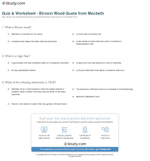 quiz worksheet birnam wood quote from macbeth com print birnam wood quote meaning in macbeth overview worksheet