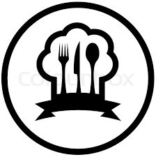 kitchen utensils silhouette vector free. Round Food Icon With Chef Hat And Kitchen Utensil Silhouette, Vector Utensils Silhouette Free T