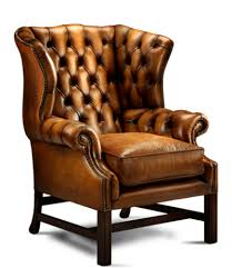 leather sofa chair. Leather Wing Back Chair Sofa