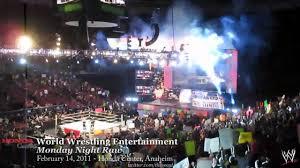 02 14 2011 Honda Center Wwe Monday Night Raw Youtube