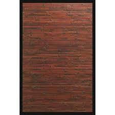 cobblestone mahogany brown with black border 4 ft x 6 ft area rug