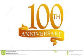Anniversary Ribbon 100 Year Ribbon Anniversary Stock Vector Illustration Of Modern