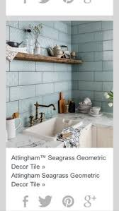 Attingham Seagrass Geometric Decor Tile Macrame™ Bathroom Pinterest Wall tiles Topps tiles and Walls 19