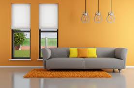 Orange Sofa Living Room Ravishing Modern Living Room Interior Design Color Schemes With