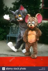 WESTWOOD, CA - JULY 24: Tom and Jerry attend 'Tom & Jerry: The Movie'  Westwood Premiere on