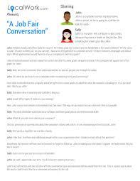 A Job Fair Conversation What To Say To Recruiters At A Job Fair