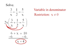 variable in denominator restriction