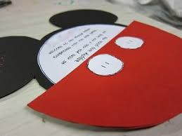 Make Your Own Mickey Mouse Invitations Mickey Mouse Invitation Side Shot Learn How To Make Your Own