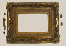 frame for george inness painting before restoration