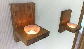 wooden tealight candle holders modern wall mount tea light candle holder oak candle holder