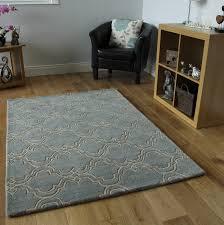 duck egg blue wool rug