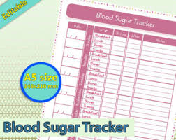 diabetic blood sugar chart blood sugar chart etsy