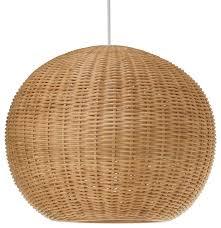 rattan lighting. KOUBOO - Wicker Ball Pendant Light, Natural Lighting Rattan L
