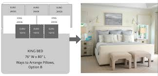 king pillows on queen bed. Simple Bed Option C Stacked And Standing Mixed Intended King Pillows On Queen Bed R