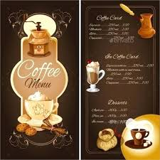 Cafe Menu Templates Free Download Coffee Template Word