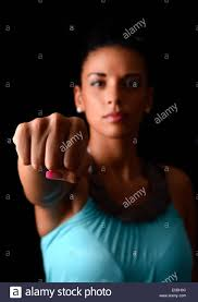 A persons fist front on